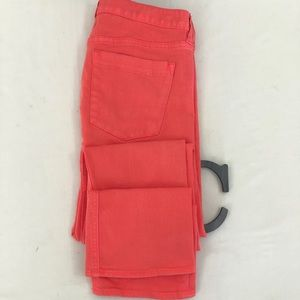 J Crew Sz 28 Pink Ankle Stretch Jeans Matchstick